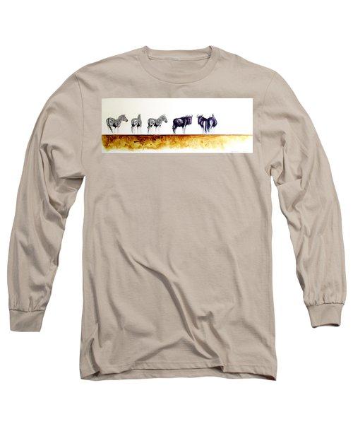 Zebra And Wildebeest Long Sleeve T-Shirt