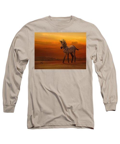 Zebra Fawn  Long Sleeve T-Shirt