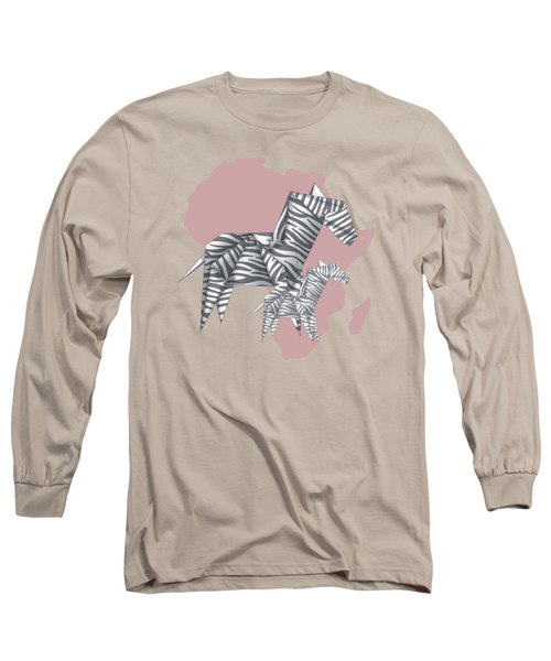 Zebras Long Sleeve T-Shirt by Absentis Designs