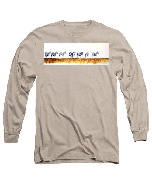 Zebras And Wildebeest 2 Long Sleeve T-Shirt