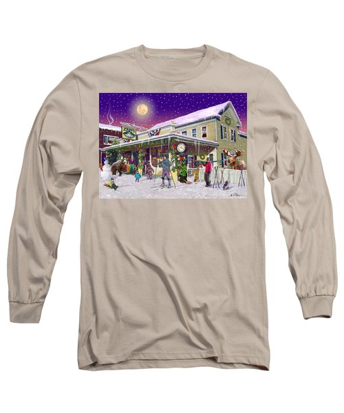 Zebs General Store In North Conway New Hampshire Long Sleeve T-Shirt by Nancy Griswold