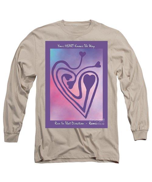 Zen Heart Labyrinth Path Long Sleeve T-Shirt