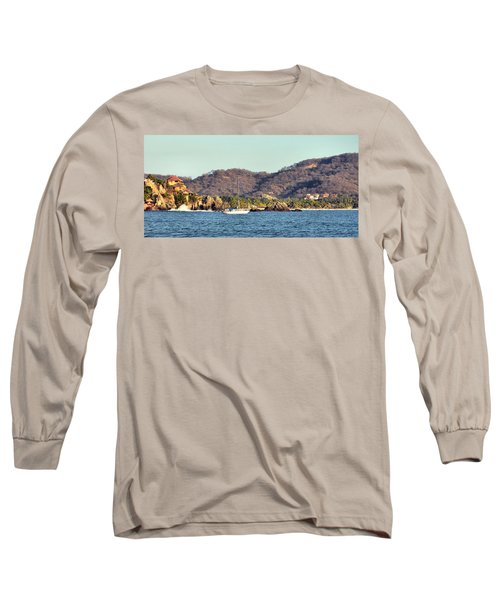 Zihuatanejo Bay Long Sleeve T-Shirt by Jim Walls PhotoArtist