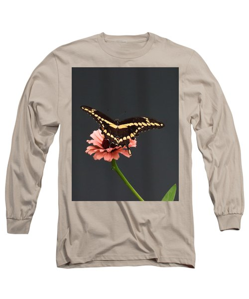 Zinnia With Butterfly 2708  Long Sleeve T-Shirt