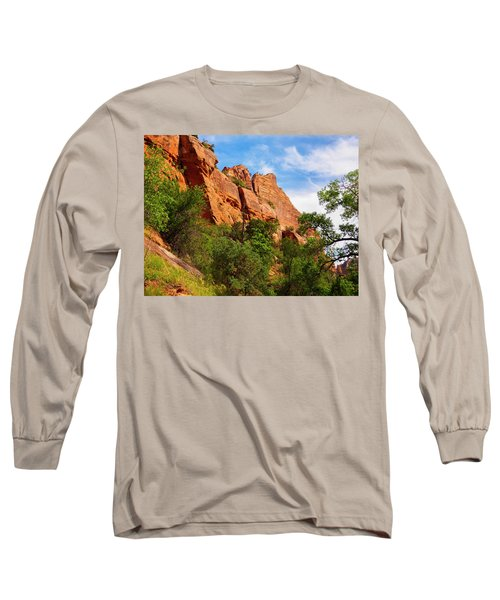 Zion National Park 1 Long Sleeve T-Shirt by Penny Lisowski