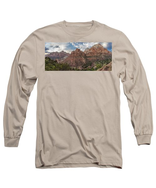 Zion National Park Switchback Road Long Sleeve T-Shirt