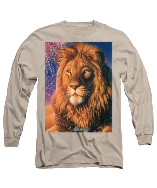 Zoofari Poster The Lion Long Sleeve T-Shirt by Hans Droog