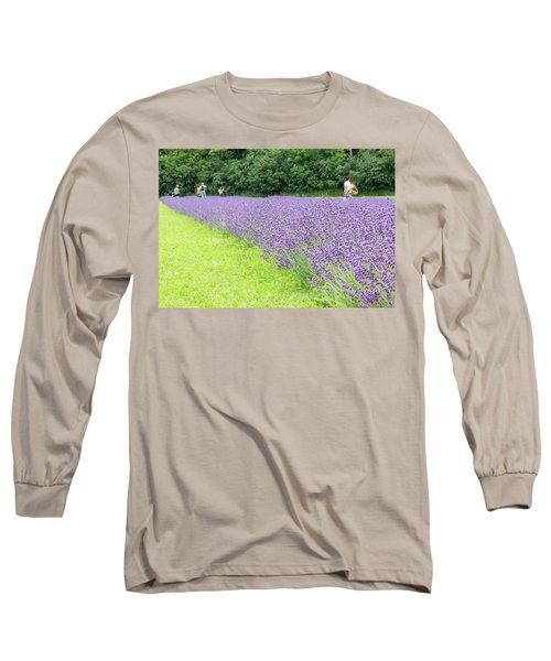 Blue Lavender Long Sleeve T-Shirt