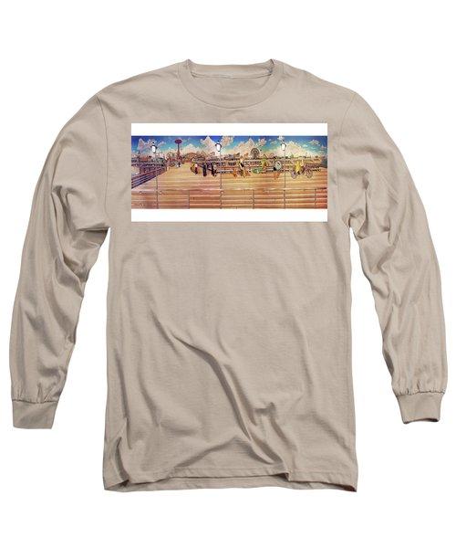 Coney Island Boardwalk Towel Version Long Sleeve T-Shirt