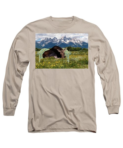 Nap Time In The Tetons Long Sleeve T-Shirt
