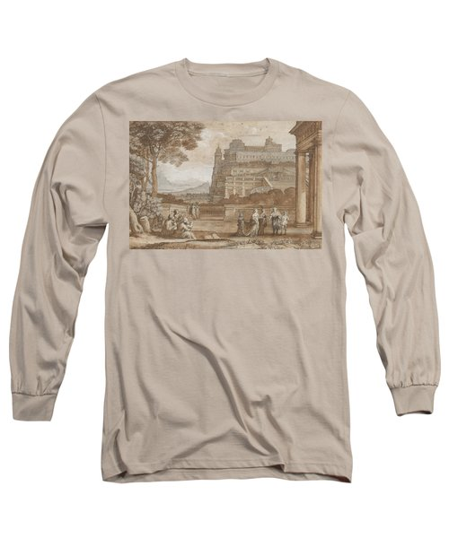 Queen Esther Approaching The Palace Of Ahasuerus Long Sleeve T-Shirt