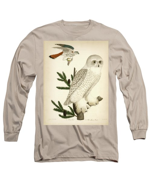 1. Snow Owl. 2. Male Sparrow-hawk. Long Sleeve T-Shirt