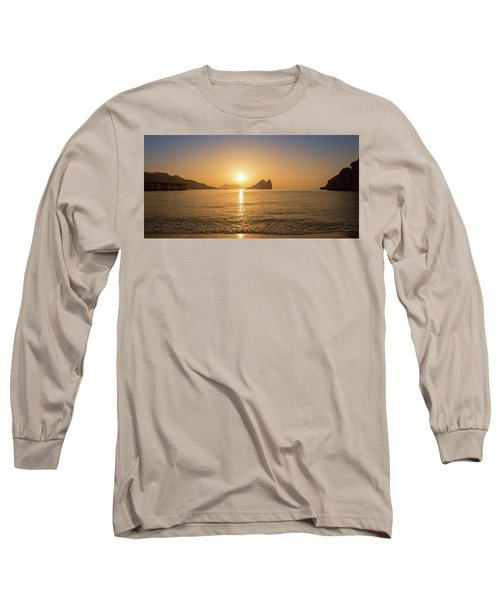 Sunrise On A Beach In Aguilas, Murcia Long Sleeve T-Shirt