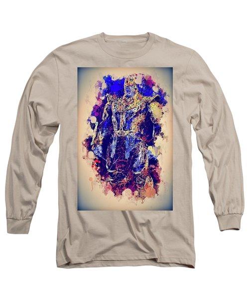 Thanos Watercolor Long Sleeve T-Shirt