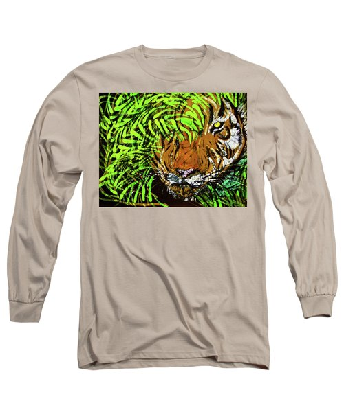 Tiger In Bamboo Long Sleeve T-Shirt