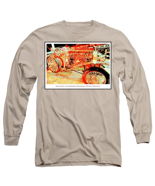 1921 Rolls Royce Classic Automobile Long Sleeve T-Shirt