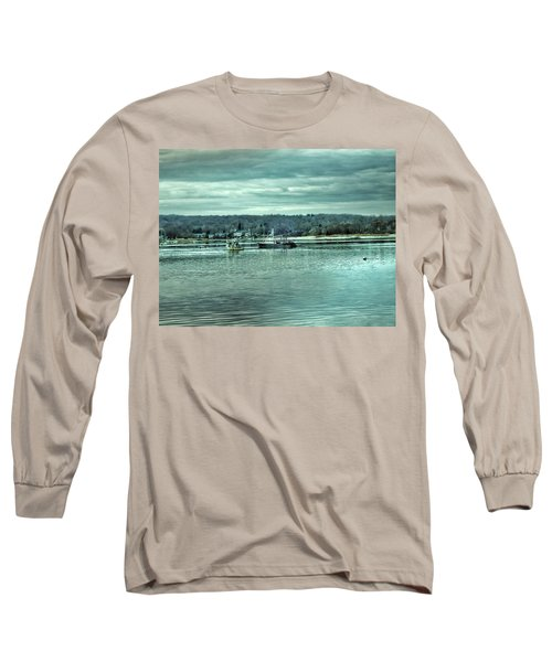 Boats At Northport Harbor Long Sleeve T-Shirt