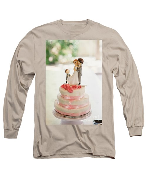 Desserts And Wedding Cake With Very Sweet Cupcakes At An Event. Long Sleeve T-Shirt