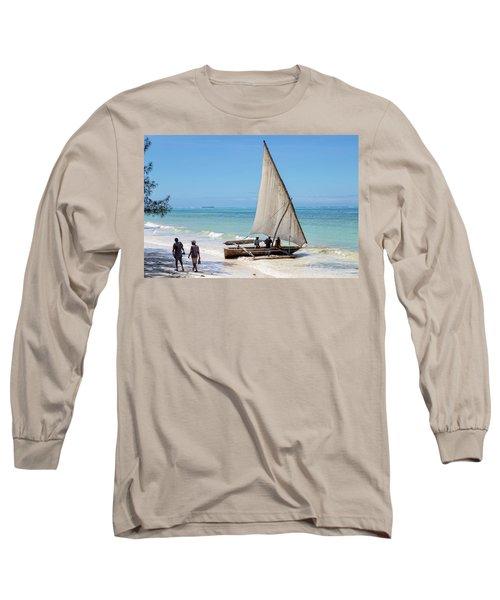A Dhow In Zanzibar Long Sleeve T-Shirt