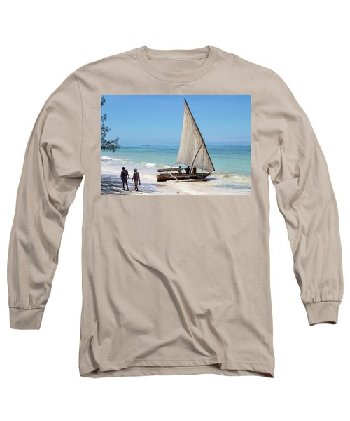 A Dhow In Zanzibar Long Sleeve T-Shirt