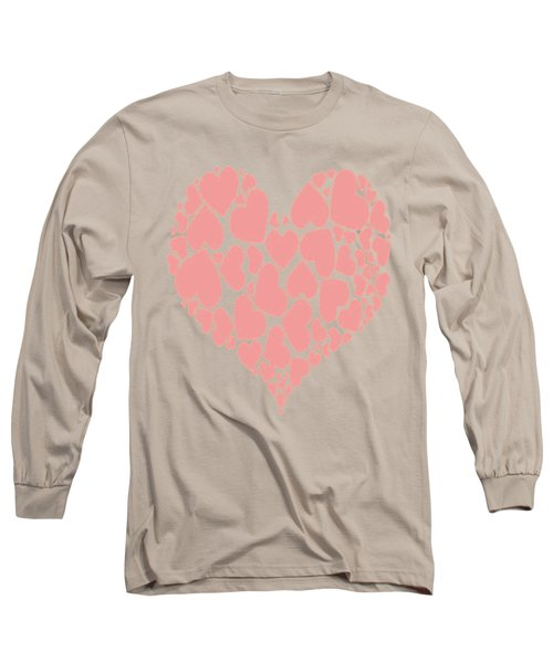 A Heart Full Of Love Pink Valentine Heart Long Sleeve T-Shirt
