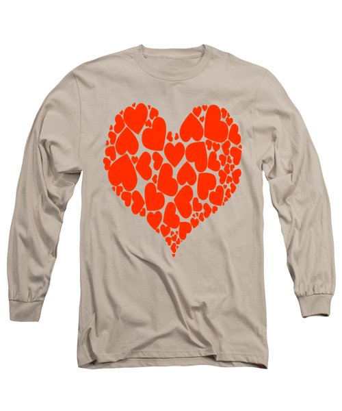 A Heart Full Of Love Red Pattern  Long Sleeve T-Shirt