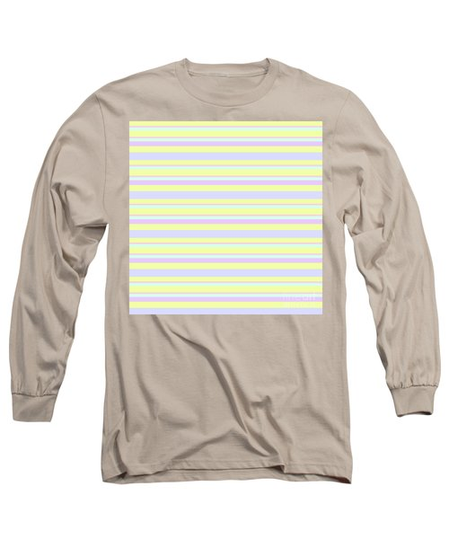 Abstract Horizontal Fresh Lines Background - Dde596 Long Sleeve T-Shirt