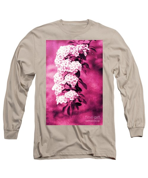 Abstract Spirea Cascade In Red Long Sleeve T-Shirt