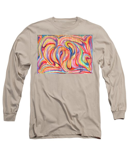 Abstraction In Autumn Colors Long Sleeve T-Shirt