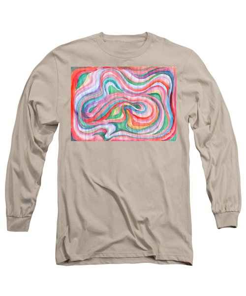 Abstraction In Spring Colors Long Sleeve T-Shirt
