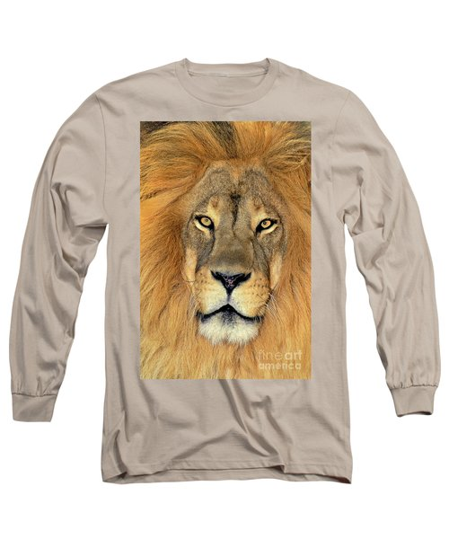 African Lion Portrait Wildlife Rescue Long Sleeve T-Shirt