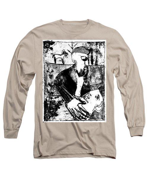 After Childish Edgeworth Black And White Print 26 Long Sleeve T-Shirt