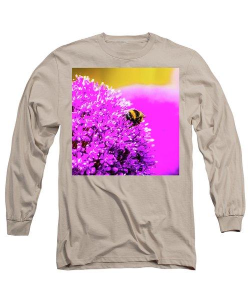 Allium With Bee 2 Long Sleeve T-Shirt