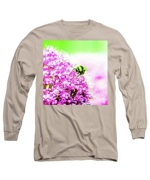 Allium With Bee 3 Long Sleeve T-Shirt