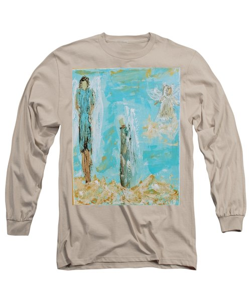 Angels Appear On Golden Clouds Long Sleeve T-Shirt