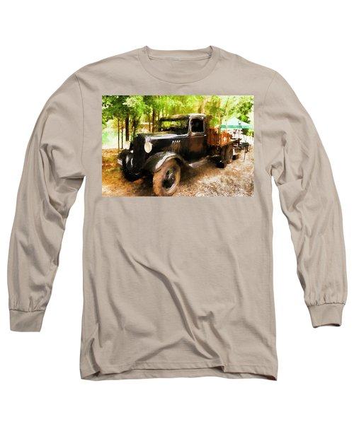 Antique Black Truck Long Sleeve T-Shirt