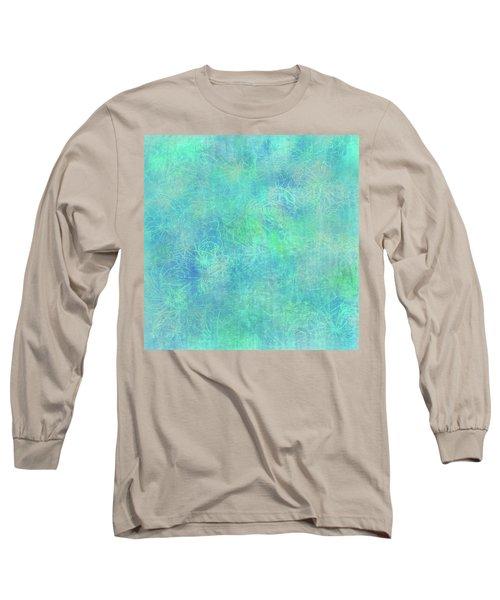 Aqua Batik Print Coordinate Long Sleeve T-Shirt
