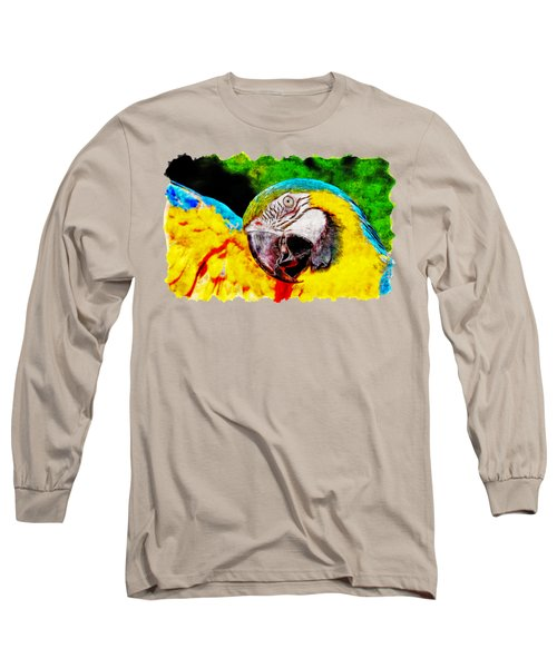 Ara Macaw Parrot Long Sleeve T-Shirt