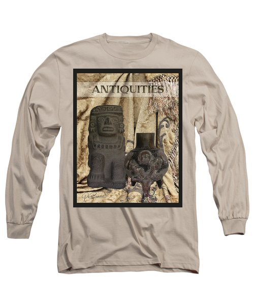 Artifacts,stone Statue And A Clay Vase Long Sleeve T-Shirt