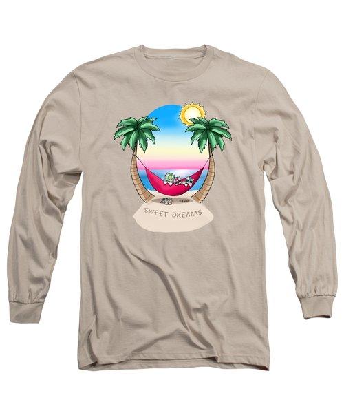 Kiniart Yorkies Tropical Dreams Long Sleeve T-Shirt