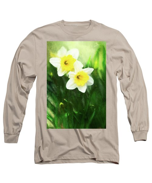 Lovely Painted Daffodil Pair Long Sleeve T-Shirt