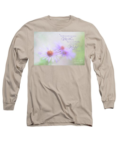 Asters For Mother's Day Long Sleeve T-Shirt