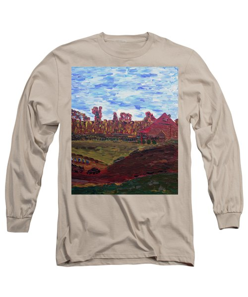 Autumn At Aggie's Farm Long Sleeve T-Shirt