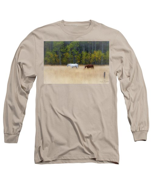Autumn Horse Meadow Long Sleeve T-Shirt