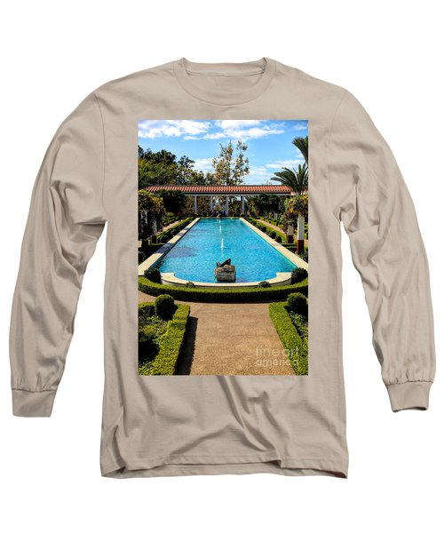 Awesome View Getty Villa Pool  Long Sleeve T-Shirt