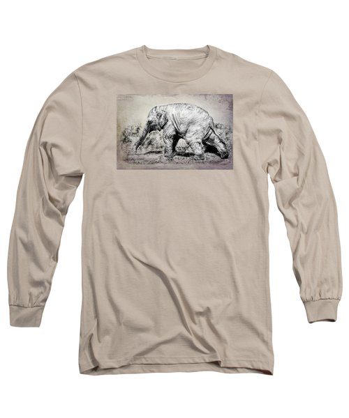Baby Elephant Walk Long Sleeve T-Shirt