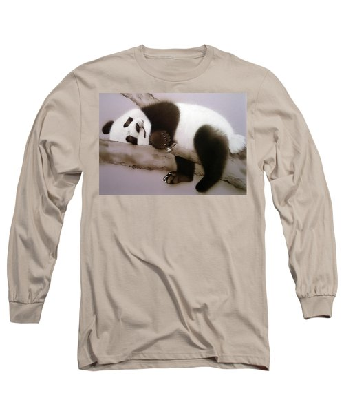 Baby Panda In Sweet Dream Long Sleeve T-Shirt