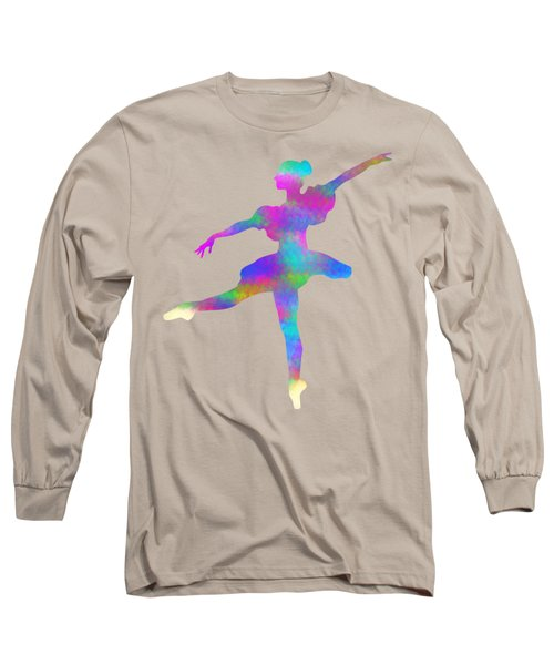 Ballerina Watercolor Long Sleeve T-Shirt