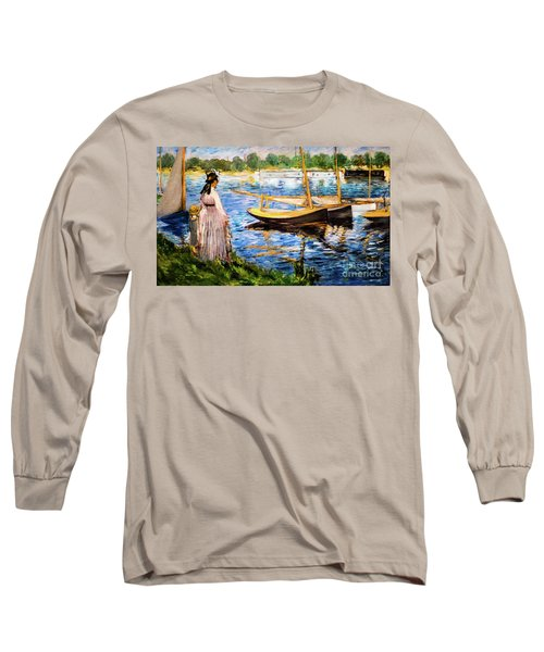 Banks Of The Seine At Argenteuil Long Sleeve T-Shirt