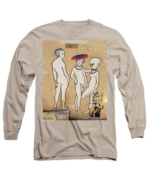 Banksy Paris Winner Take All Long Sleeve T-Shirt